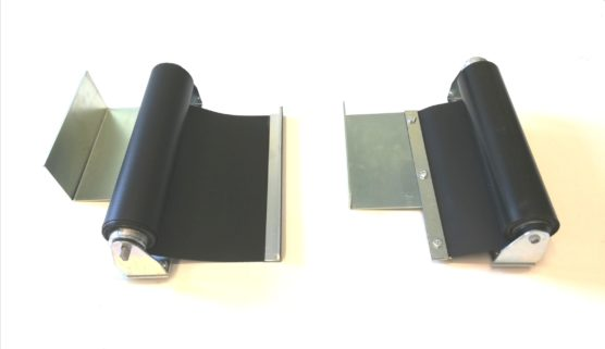 Roll-up covers for lathes